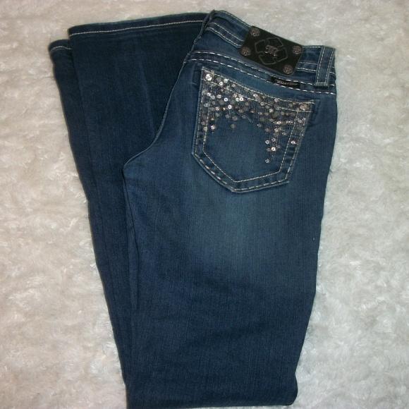 Miss Me Denim - Miss Me Jeans Size 28x27 Sequined Pockets